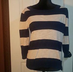 J. Crew Beach Sweater Navy Oatmeal S Small Stripe